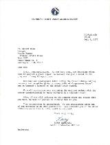 1977 NCUA letter congratulates Manager Bob Hess on the new Annex II location