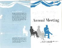 1960 Annual Meeting booklet, front cover