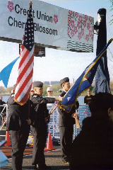 1st cherry blossom color guard