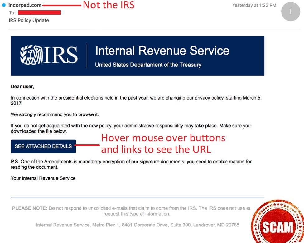 IRS Policy Update